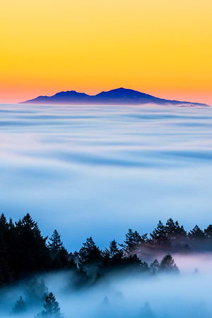 MT DIABLO ON A SEA OF FOG
