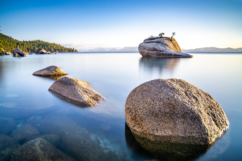 BONSAI ROCK SUNSET LONG EXPOSURE - LAKE TAHOE