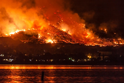 California Wildfires: The Holy Fire At Lake Elsinore On August 9, 2018