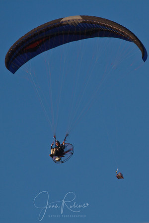 Paraglider with an assist from a fan?