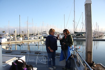 Penny and Sharon at the back of the Salty Lady