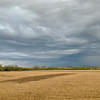 Storm clouds over farmland in central Iowa near Creston.