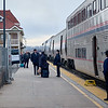 The California Zephyr's crew swapping out in Grand Junction, Colorado