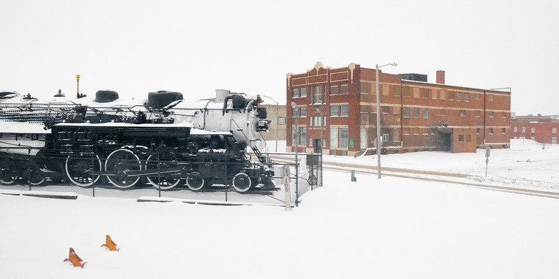 Approaching the Galesburg Railroad Museum, Illinois