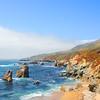 Beautiful summer mountain coastal landscape. Garrapata State Park and beach, Big Sur, California,USA