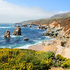 Beautiful summer mountain coastal landscape. Garrapata State Park and beach, Big Sur, California, USA.