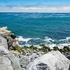 Santa Cruz coastline. Beautiful rocky shore. Beautiful rocky shore on Pacific ocean. California, USA.