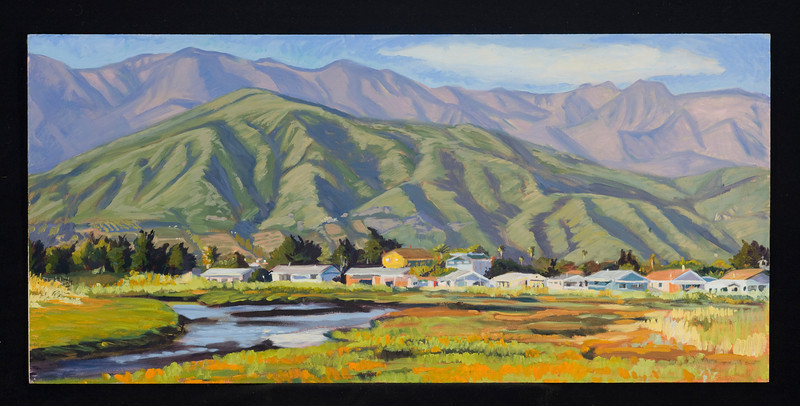 "Carpinteria, 2004, 12x30"", oil on panel"
