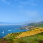 Beautiful coastal mountains landscape.