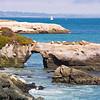 Rocky coastal  landscape, Pacific ocean. Santa Cruz  coast , California, USA.