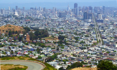 San Francisco from the hills