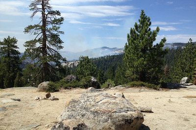El Portal Fire July 29 2014 near Olmstead Point