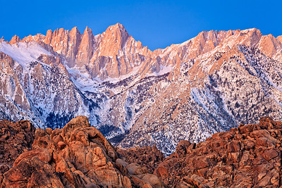 Mt. Whitney before sunrise