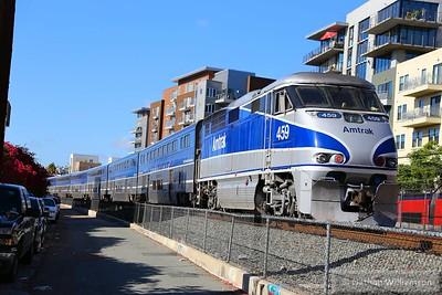 AMTK459 departs San Diego