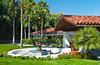 The El Casa del Zorro Resort entrance in Borrego Springs, California, USA.