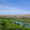 San Ardo river view and derricks