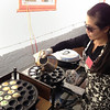 Chon making kanom kroc