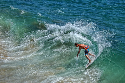 Skim Board Surfer