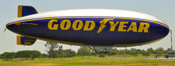 Goodyear Blimp on the Ground - 1