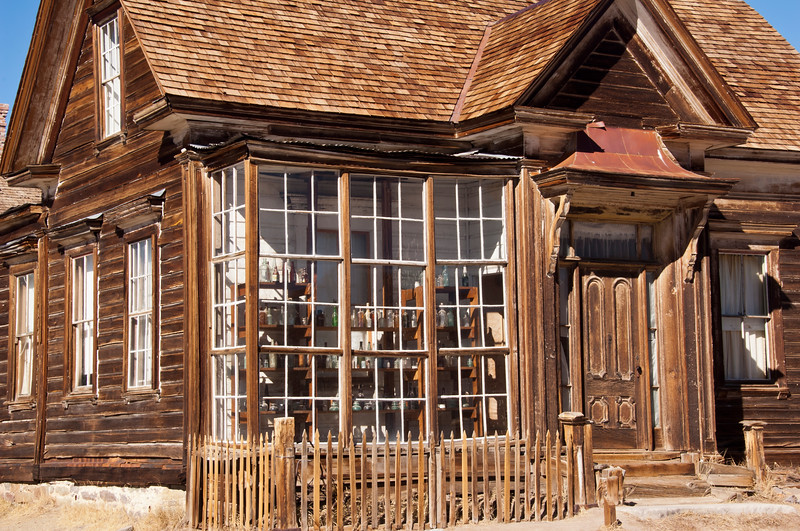usa, california, bodie state park, ghost town, architecture