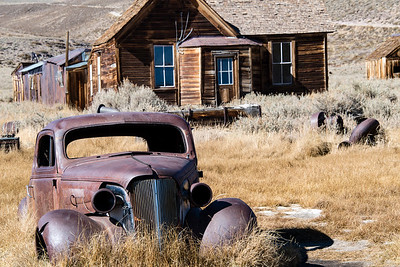 usa, california, bodie state park, ghost town, architecture, transportation, automobile