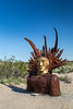 A metal sculpture in the Galleta Meadows in Borrego Springs, California, USA.