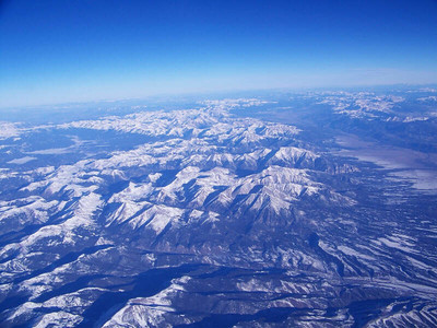 Colorado Rockies from the air