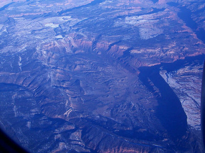pit seen from the air, Colorado