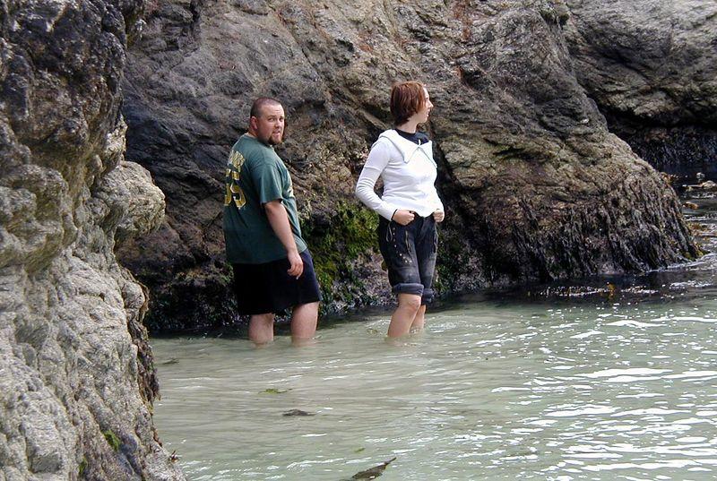 Point Lobos<br /> China Cove Beach<br /> Raus aus der Hoehle!