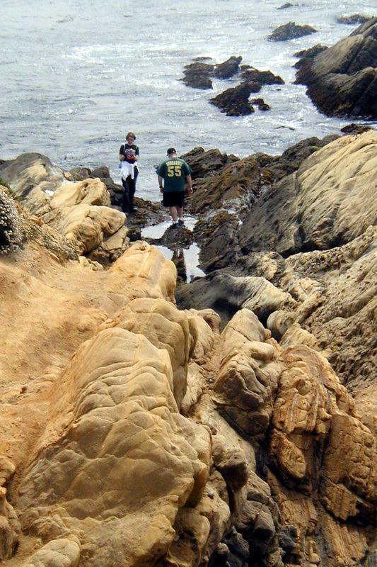 Point Lobos<br /> South Plateau Trail<br /> Jenny und Cliff erforschen Tide Pools.