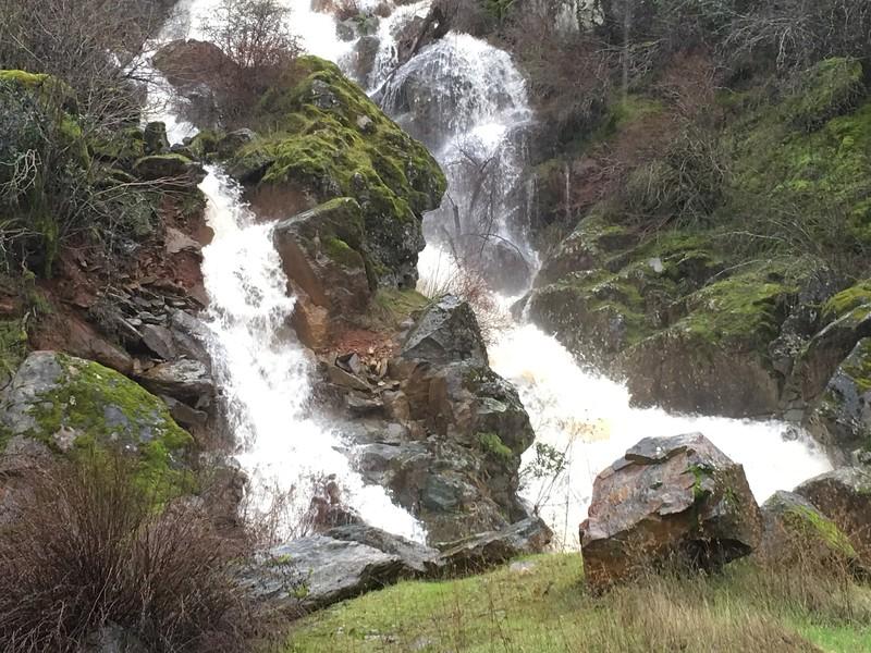 Ephemeral Waterfall Highway 140 near Briceburg