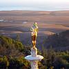 Hearst Castle, Golden Girl over the Ocean & Fields