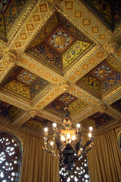 Hearst Castle, Decorative Ceiling on Third Floor