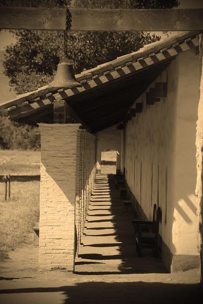 Lompoc California, La Purisma Mission Gallery Sepia