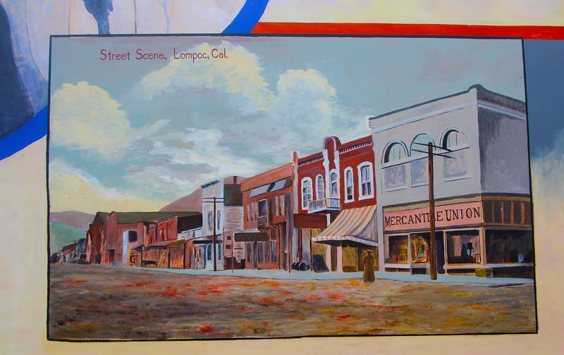 Lompoc California, Vintage Street Scene Mural