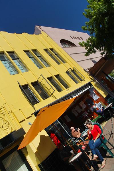 Lompoc California, Vintage Architecture, Cafe
