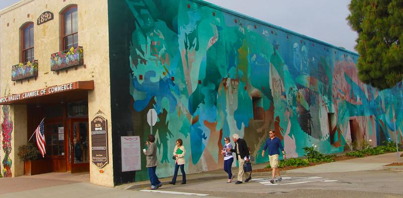 Lompoc California, Diatomaceous Mining Mural