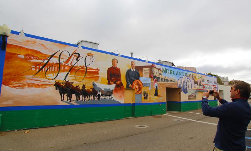 Lompoc California,  Mural Celebrating 1878 Mercantile Union
