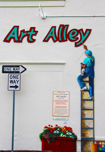 Lompoc California, Art Alley Mural