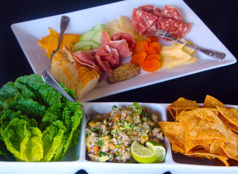 Lompoc California, Sage Restaurant, Appetizer Plate, Ceviche