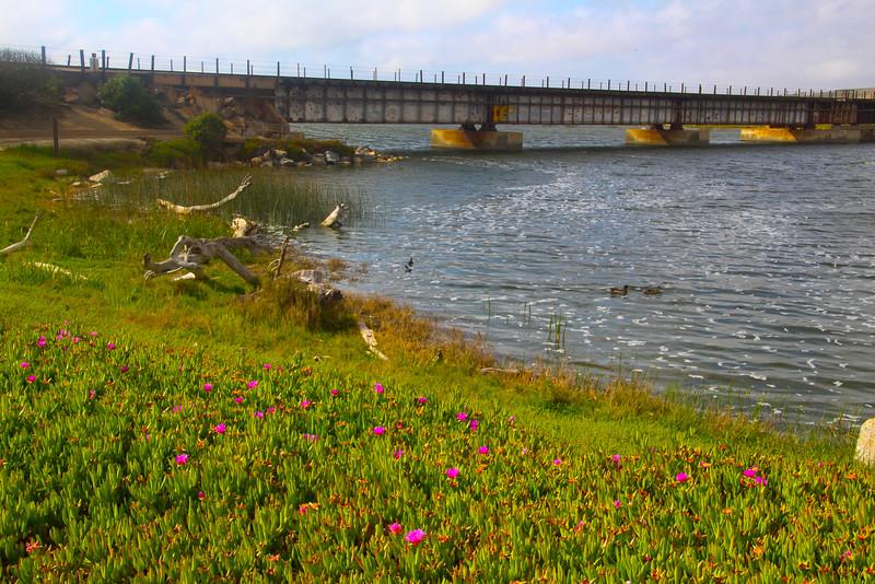 Lompoc California, Ocean Park View of Bridge