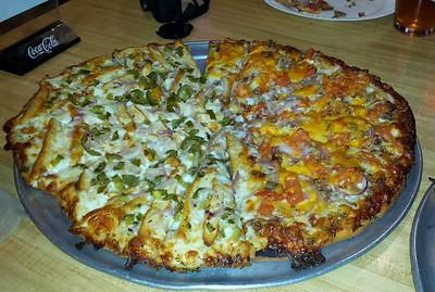 Half & Half 14 inch pizza
