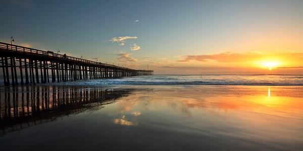 Ventura Pier sunset (panorama)