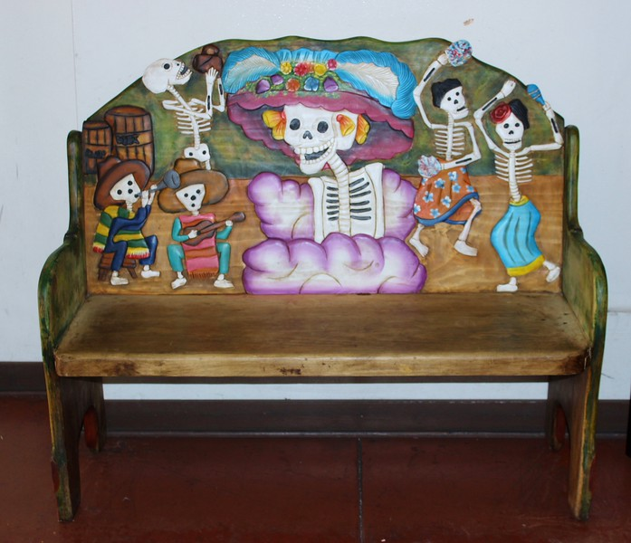 Bench Depiction of Los Dias de Los Muertos