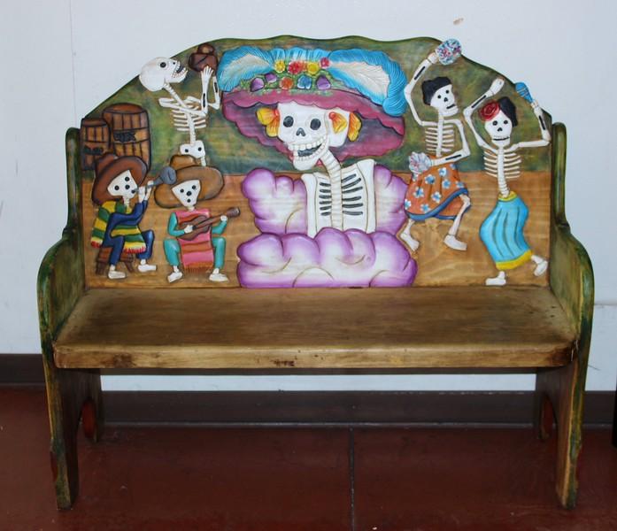 Bench Depiction of Los Dias de Los Muertos
