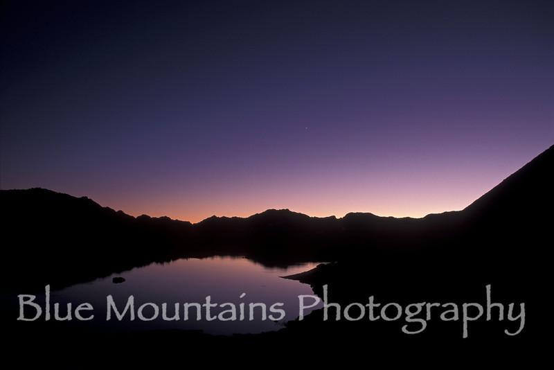 Twilight over Dusy Basin, Sierra Nevada Range