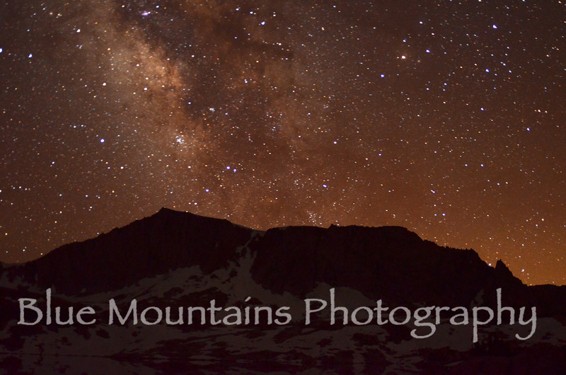 Milky Way over south rim of Hell for Sure Lake basin - Sierra Nevada Range