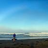 Cayucos, California beach fogbow