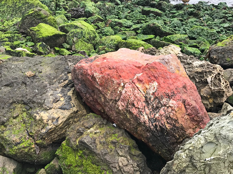 Red Boulder at the Water's Edge