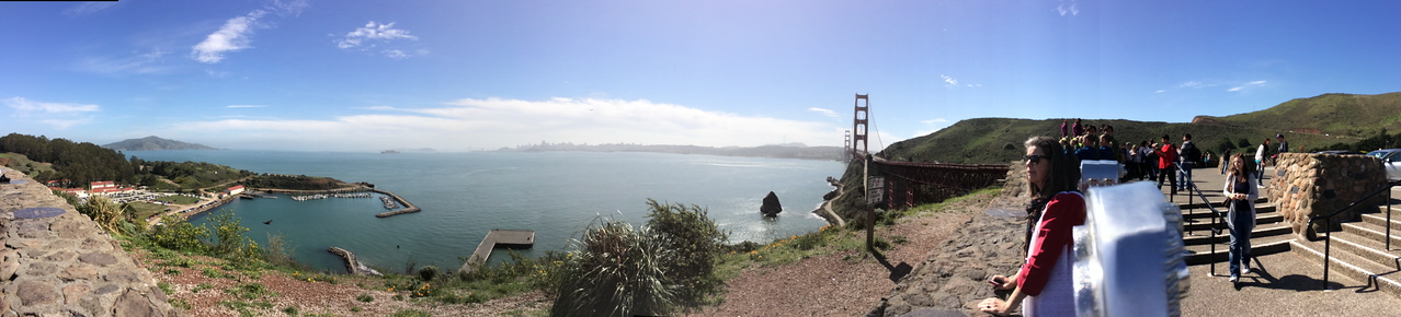 Panoramic View of the Pacific Ocean and San Francisco Bay